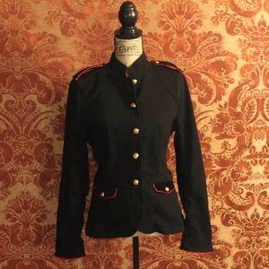 Ralph Lauren Black Denim Military Style Blazer.